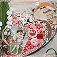 Romance Heart Shaped Chipboard Book