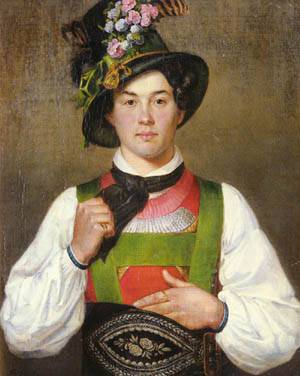 Defregger_Franz_von_A_YOUNG_MAN_IN_TYROLEAN_COSTUME